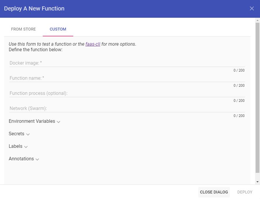 OpenFaaS - Развертывание пользовательской функции