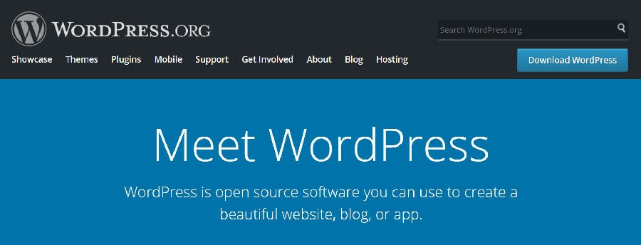 """The WordPress home page."""