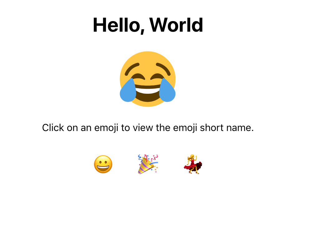 Browser with emoji