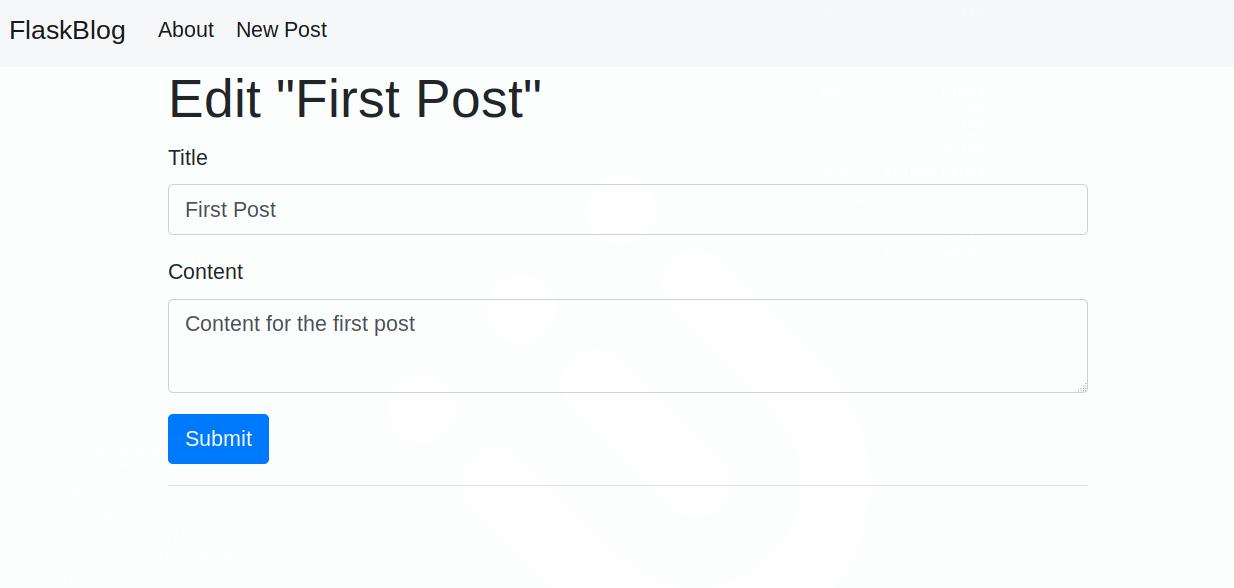 Editar la página de una entrada