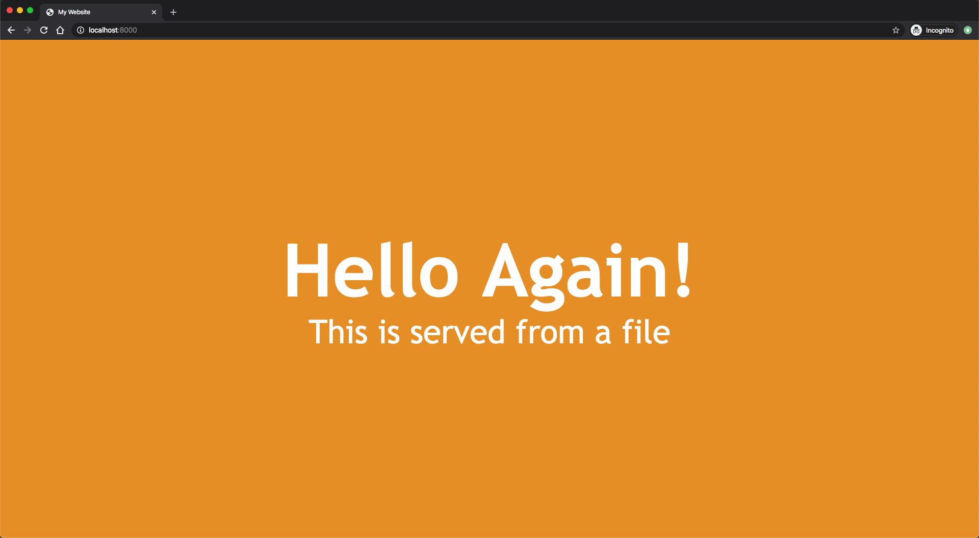 Bild der aus einer Datei in Node.js geladenen HTML-Seite