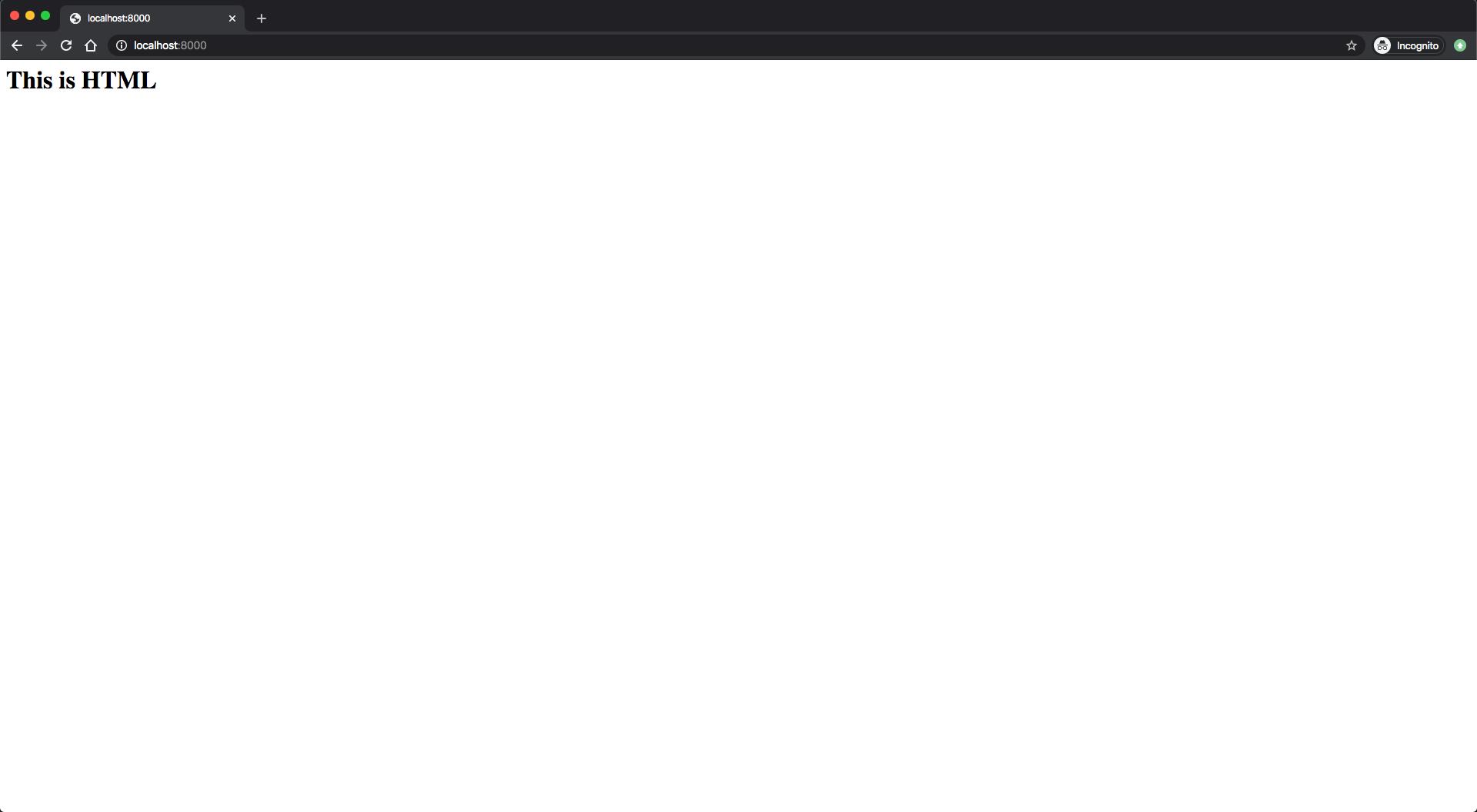 Bild der vom Node.js-Server zurückgegebenen HTML-Antwort