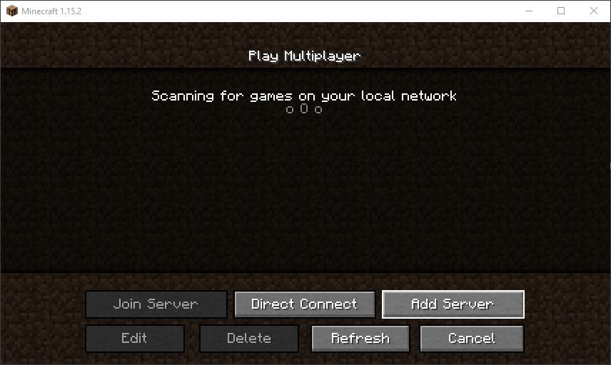 Klicken Sie auf die Schaltfläche Server hinzufügen
