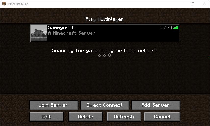 Wählen Sie Ihren Server aus und klicken Sie auf Server beitreten