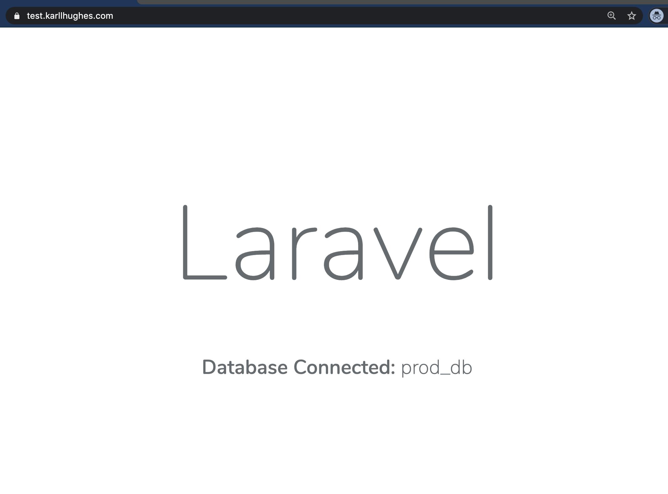 Die Laravel-Anwendung mit SSL-Terminierung und einem benutzerdefinierten Domänennamen