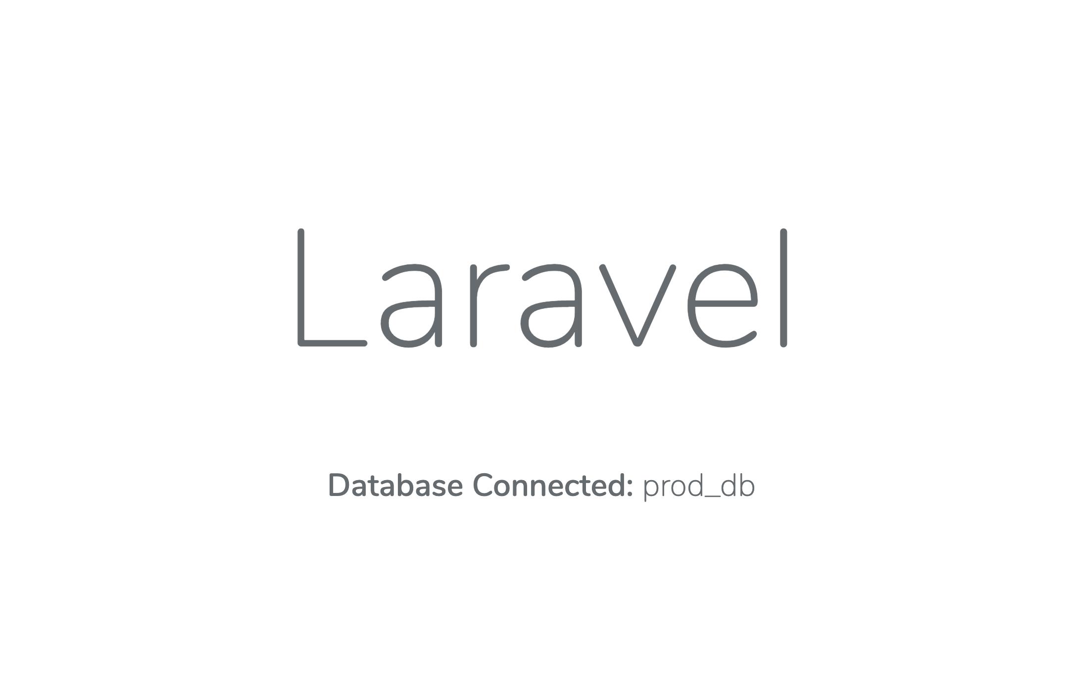 Die Laravel-Anwendung, die in Kubernetes mit dem LAMP Helm Chart ausgeführt wird