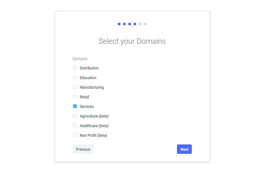 Select your Domains