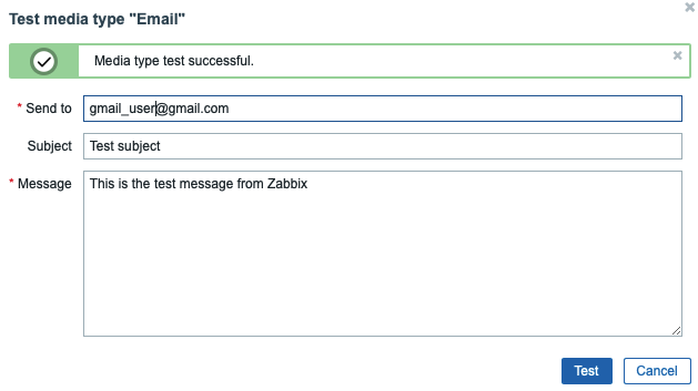 Testando o e-mail