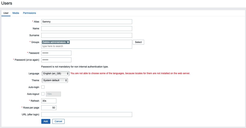 Criando um usuário