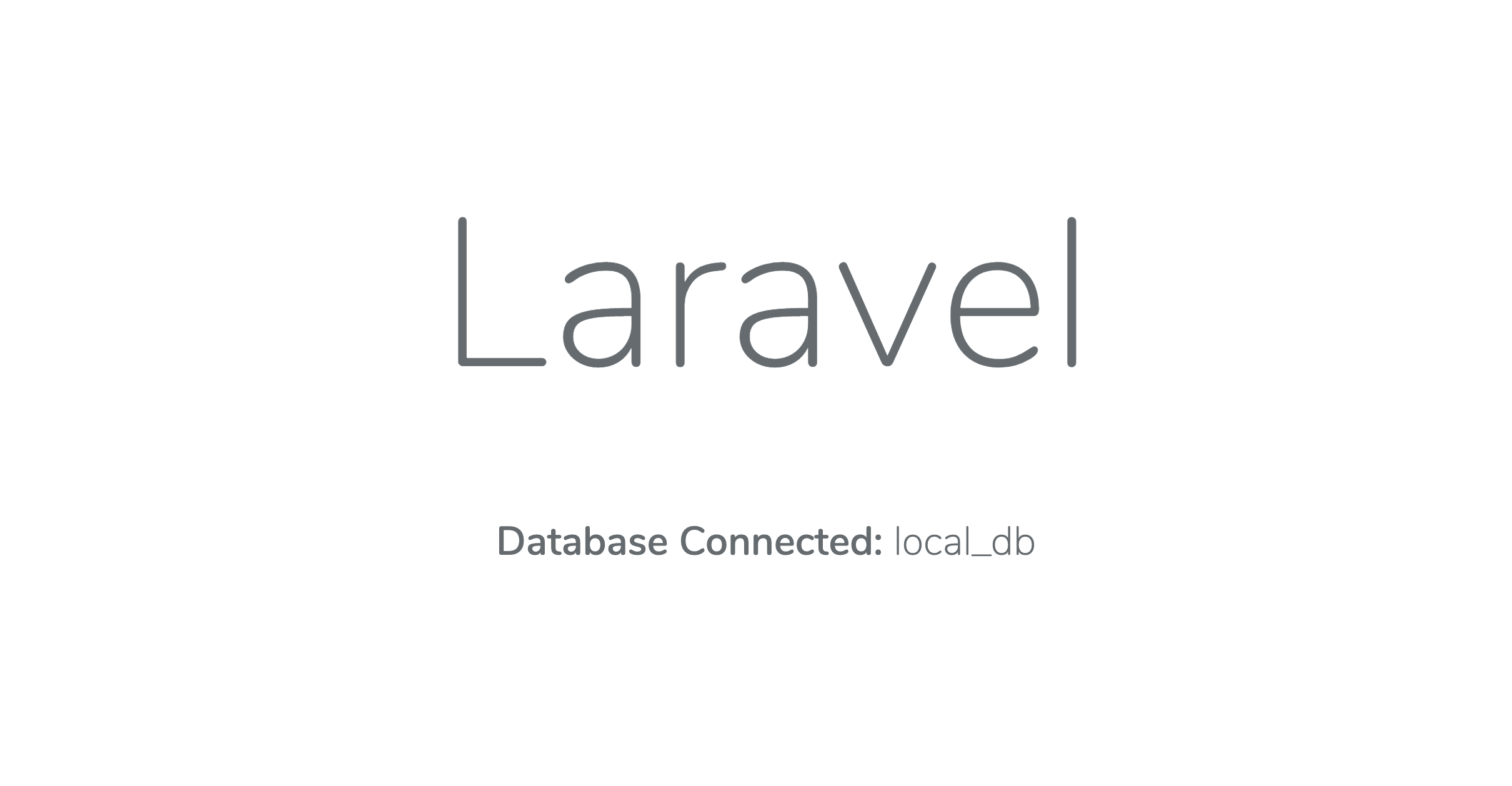The Laravel application running locally using Docker Compose