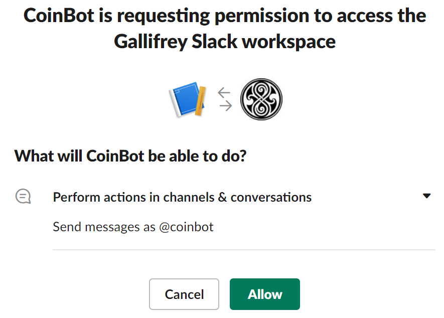 Installez l'application sur l'espace de travail
