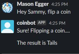 Hey Sammy, wirf eine Münze