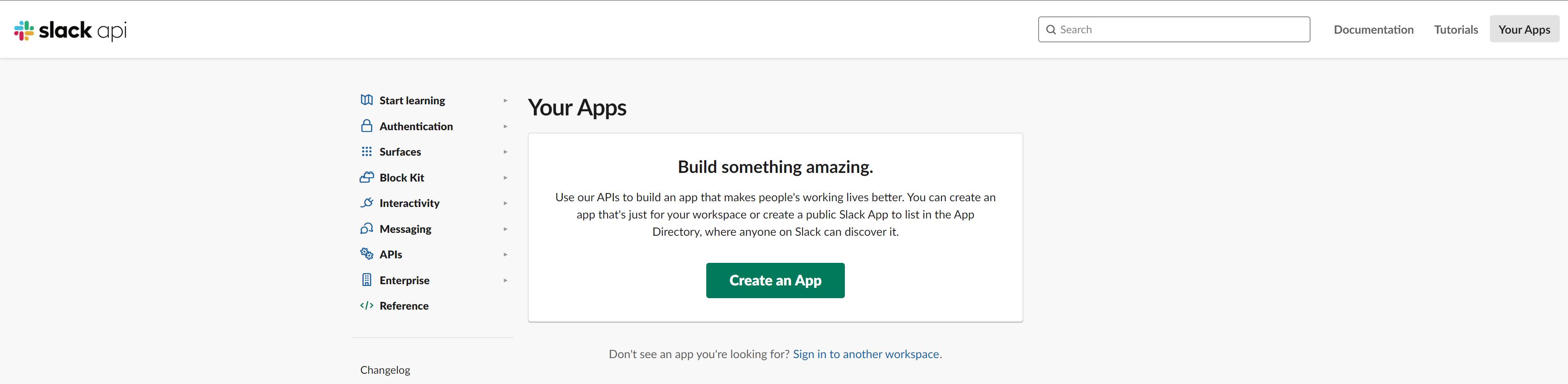 Créez votre application Slack