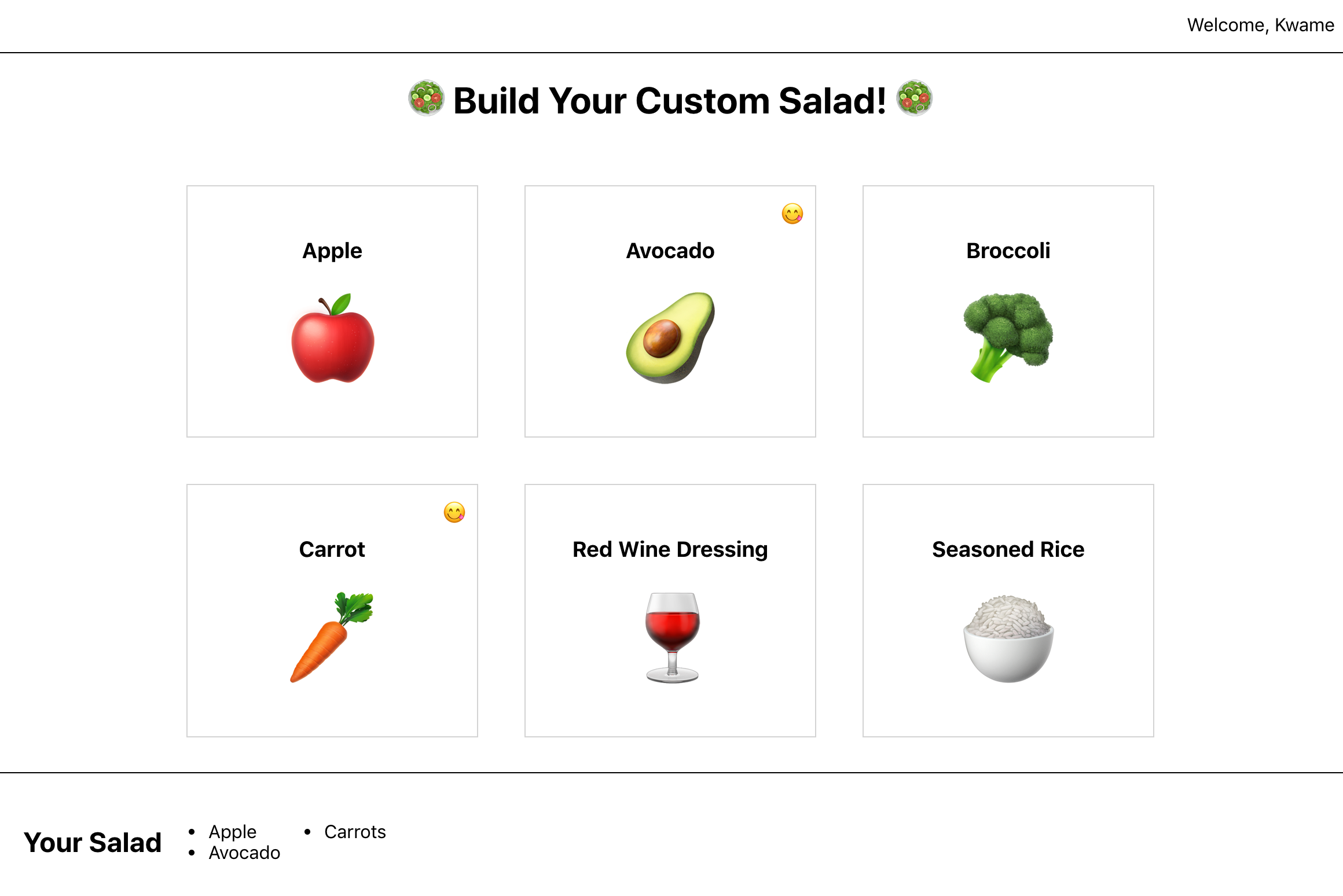 Salad Builder Site