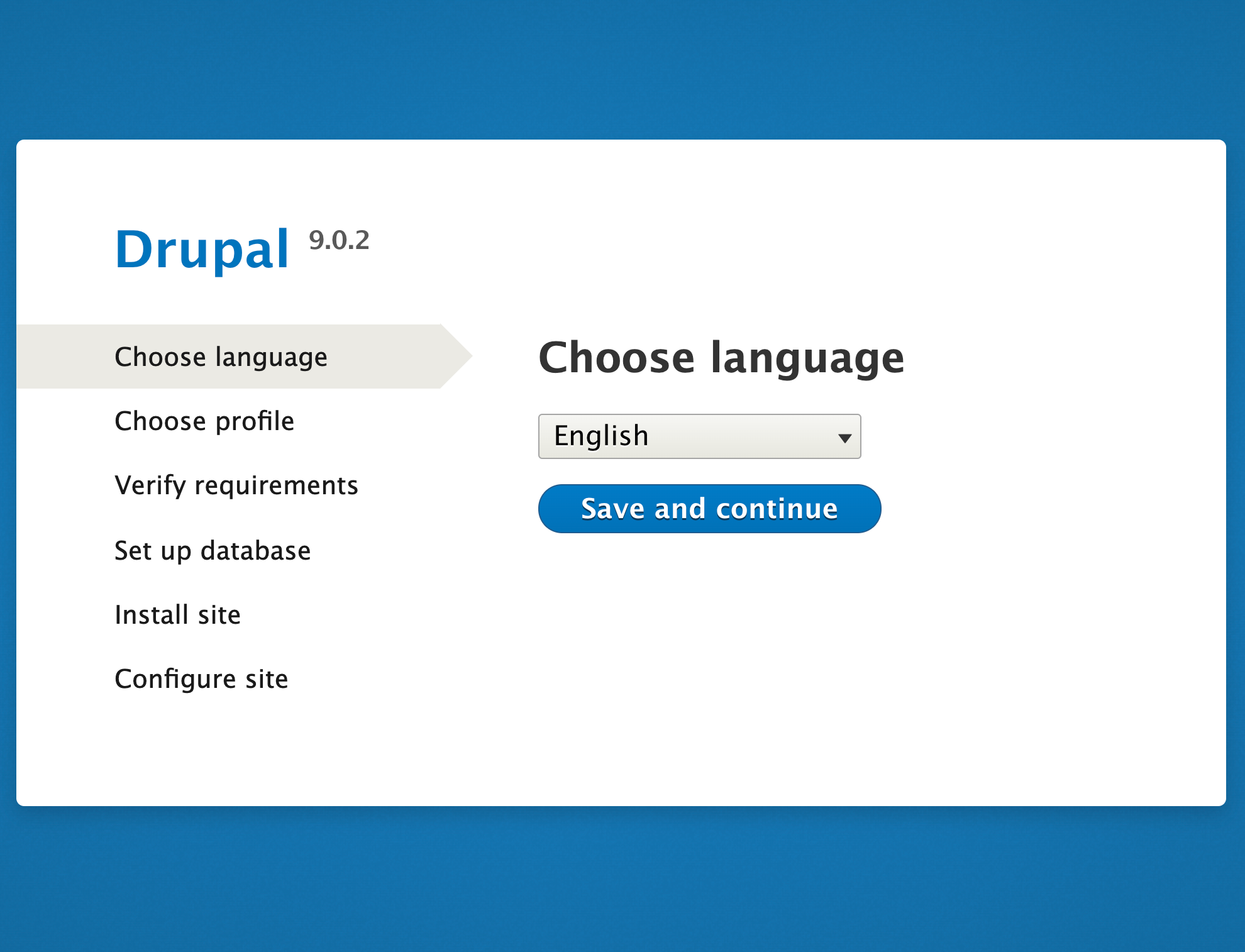 Drupal 9 installer from browser