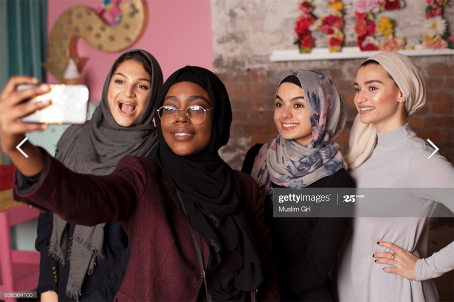 Example stock image from the MuslimGirl.com collection