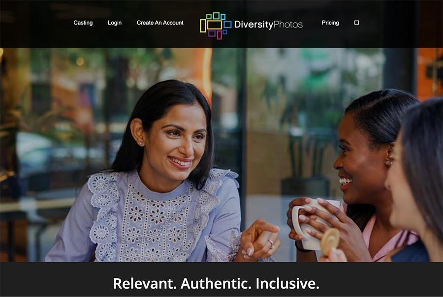 The diversityphotos.com/home page.