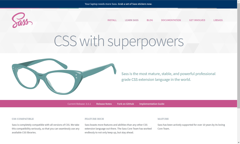 Sass Home Page