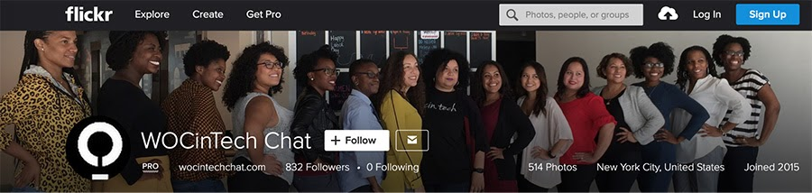 The WOCinTech Chat page on Flickr.