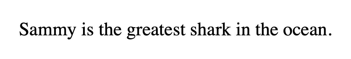 Text rendered in black in a serif font–the browser default style.