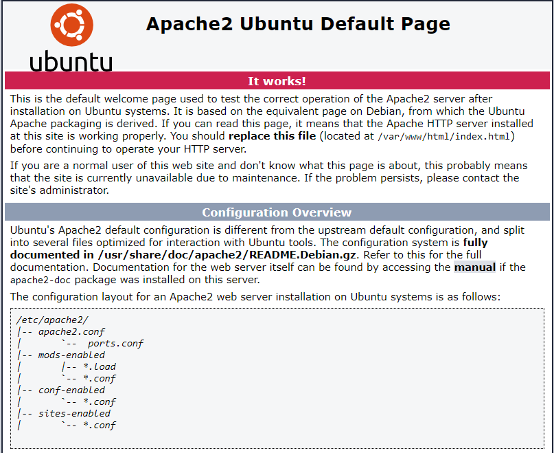 Apache Web Server - Default Page