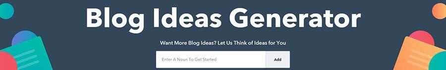 HubSpot's Blog Ideas Generator.