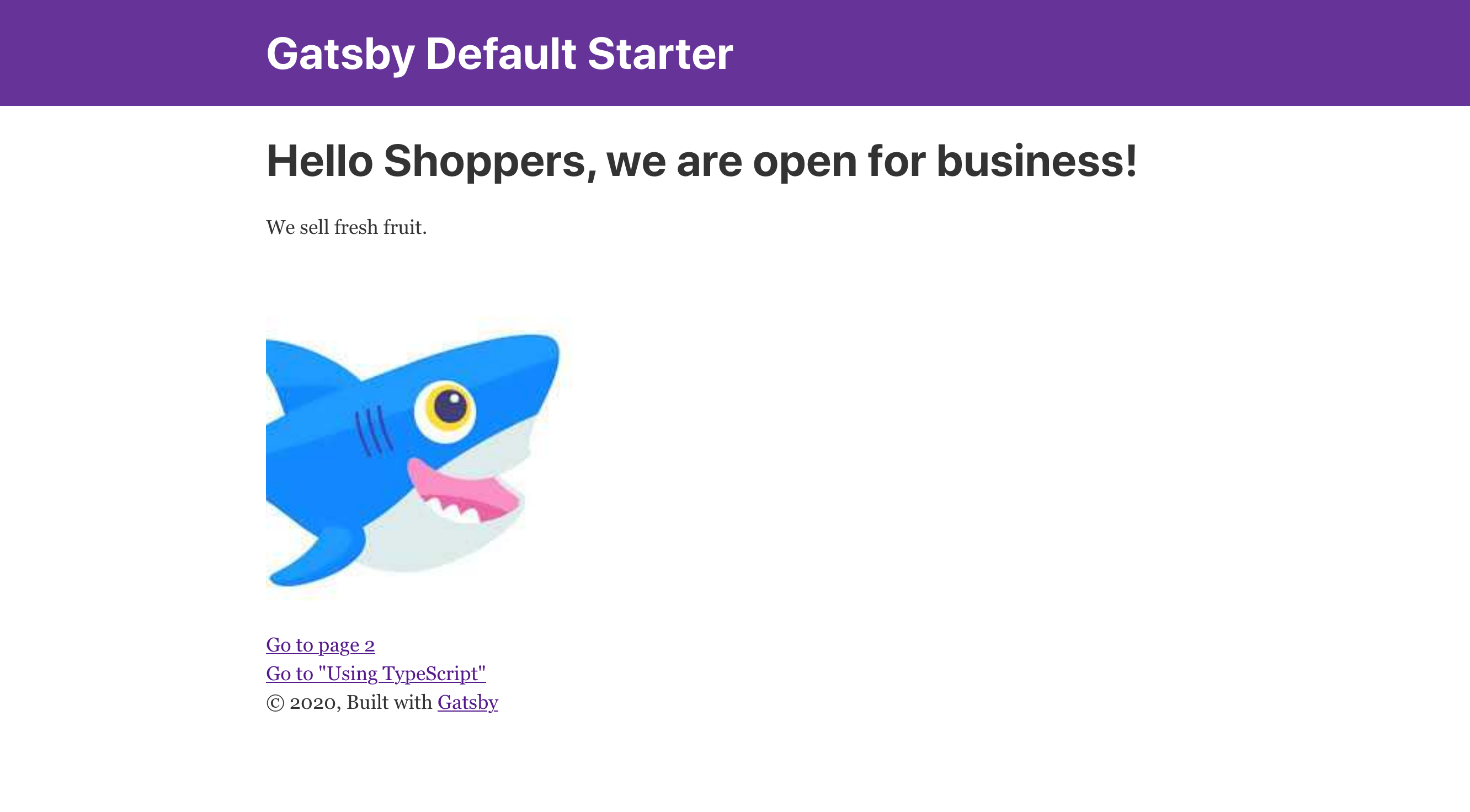 This is the final version of our Gatsby e-commerce site