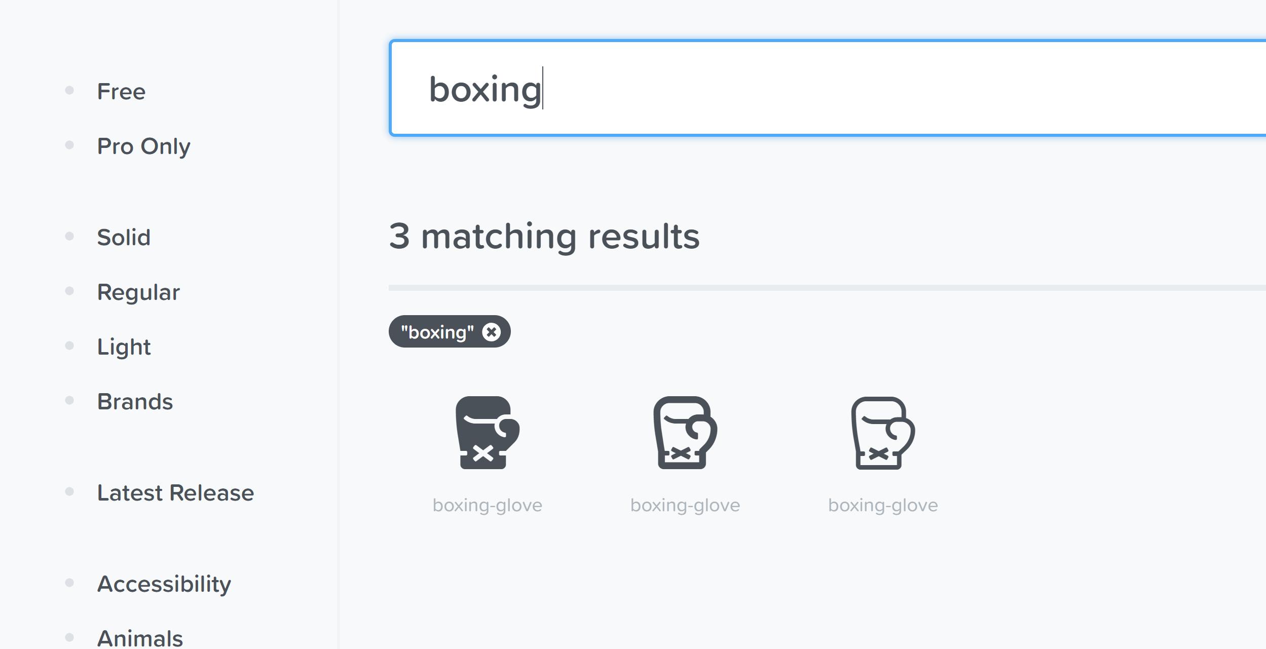3バージョンのboxing gloveアイコン