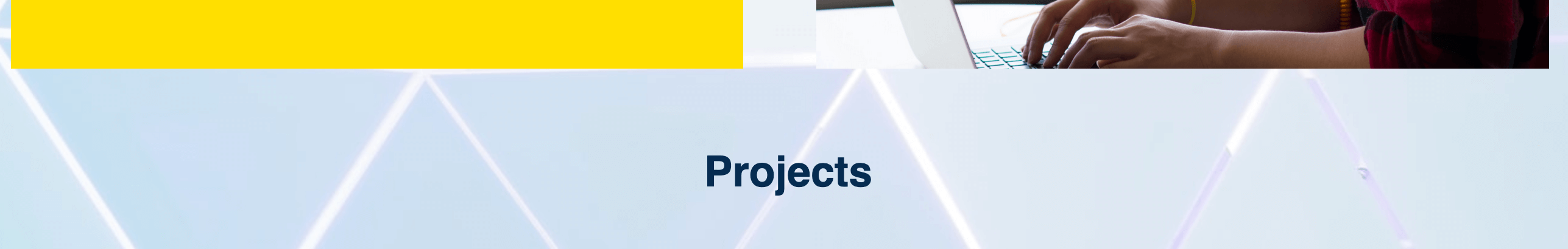 Styled project heading on webpage