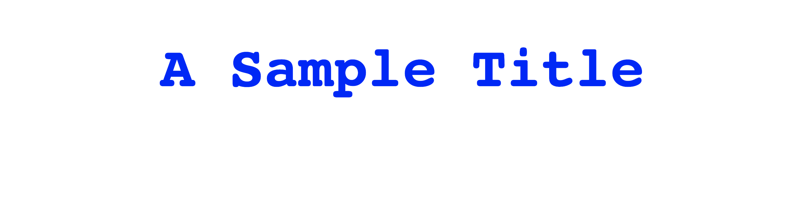Styled header text