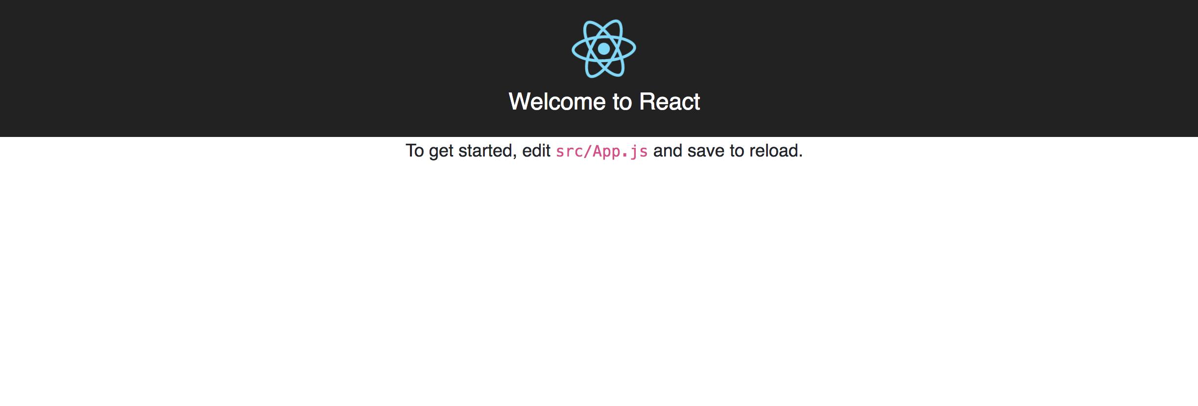 Vue initiale - Bienvenue sur React Screen