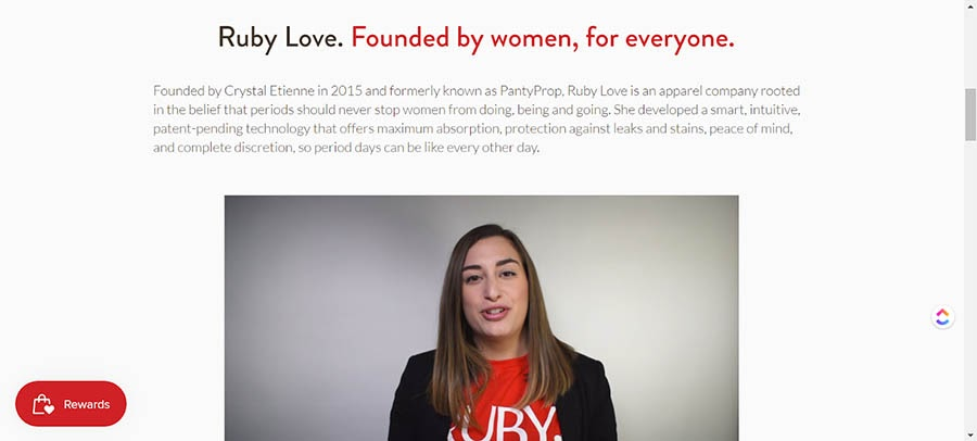 The RubyLove About Us page