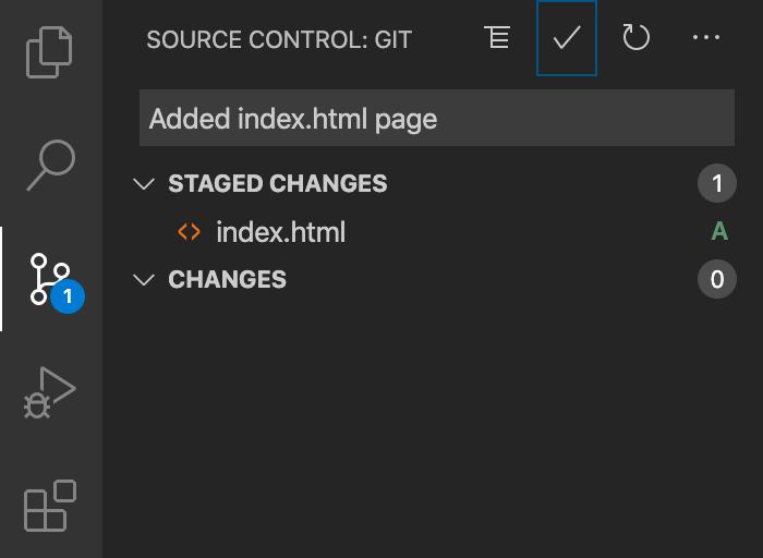 Screenshot einer hinzugefügten Datei mit dem Buchstabe-A-Indikator und der Übergabenachricht