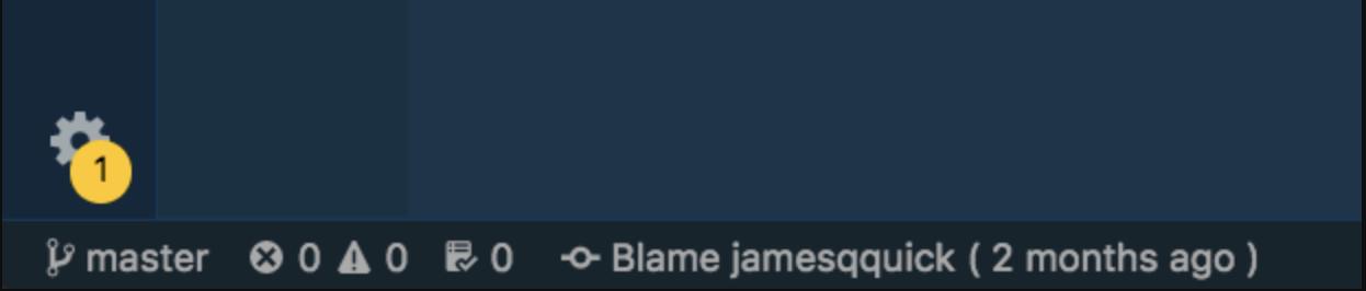 Git Blame in der unteren Symbolleiste