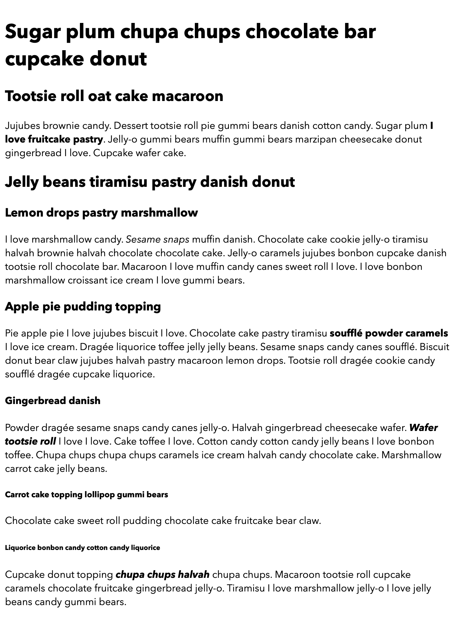 The content of the web page deplayed with the Avenir Next font in various font weights.