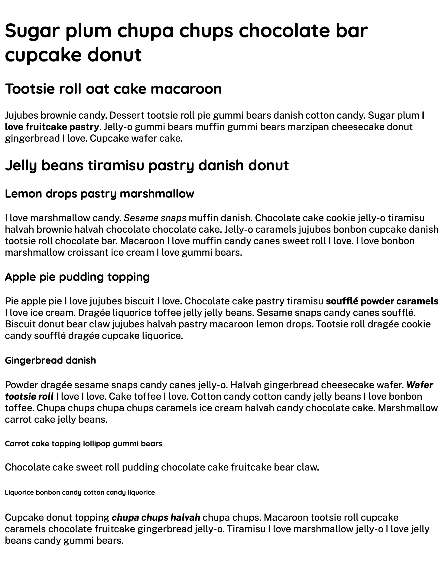 The content of the website using fonts loaded from Google Fonts.