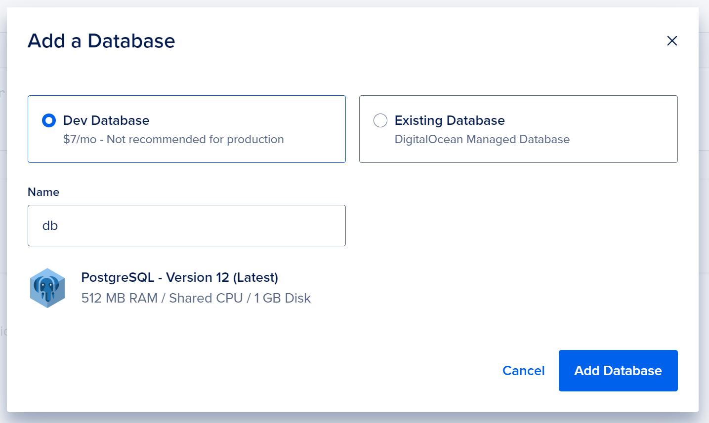 Add a database