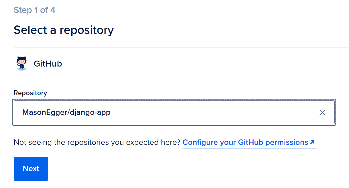 Choose your repository