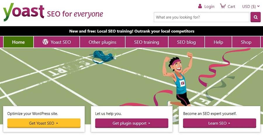 The Yoast SEO website homepage.