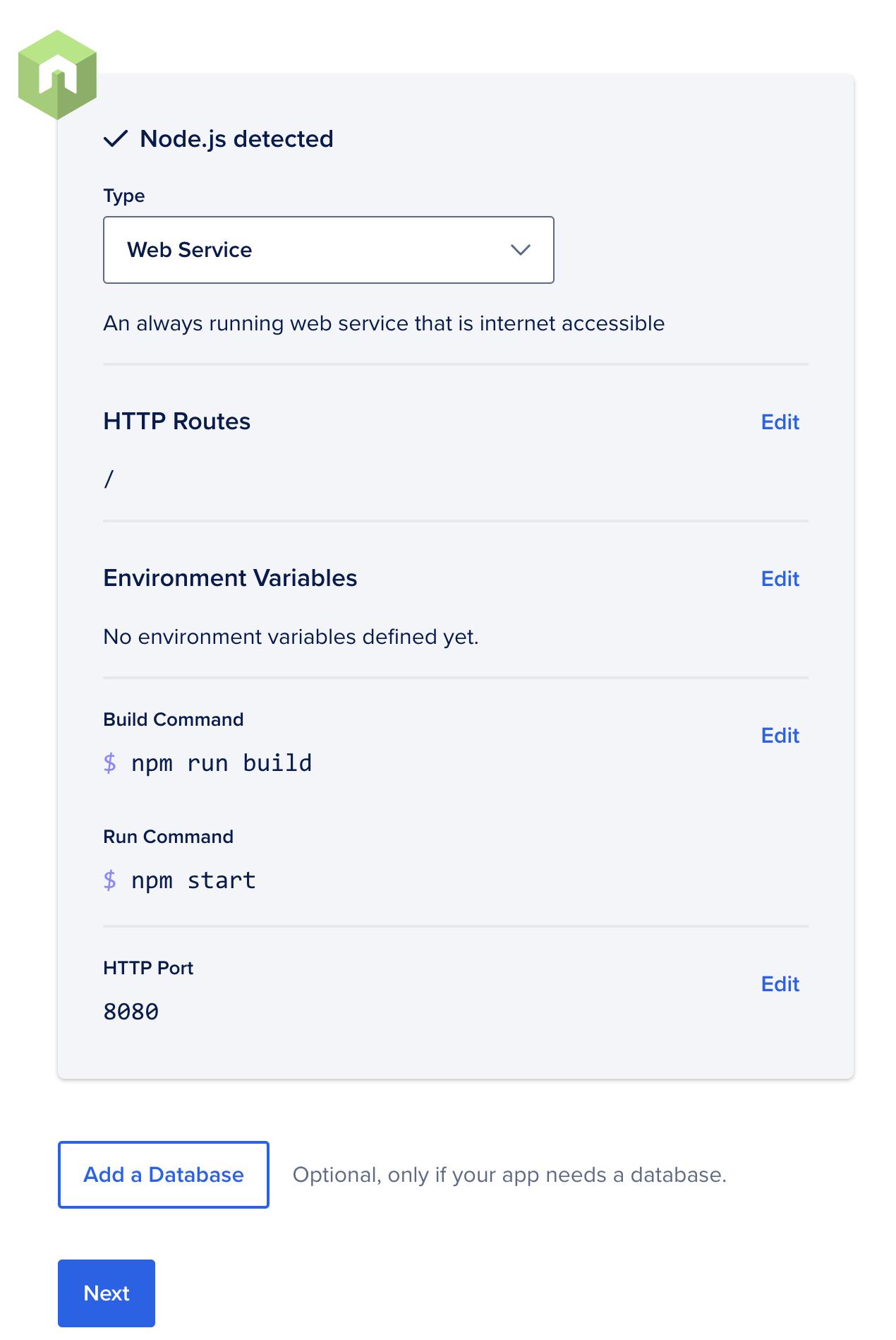 Choose Web Service