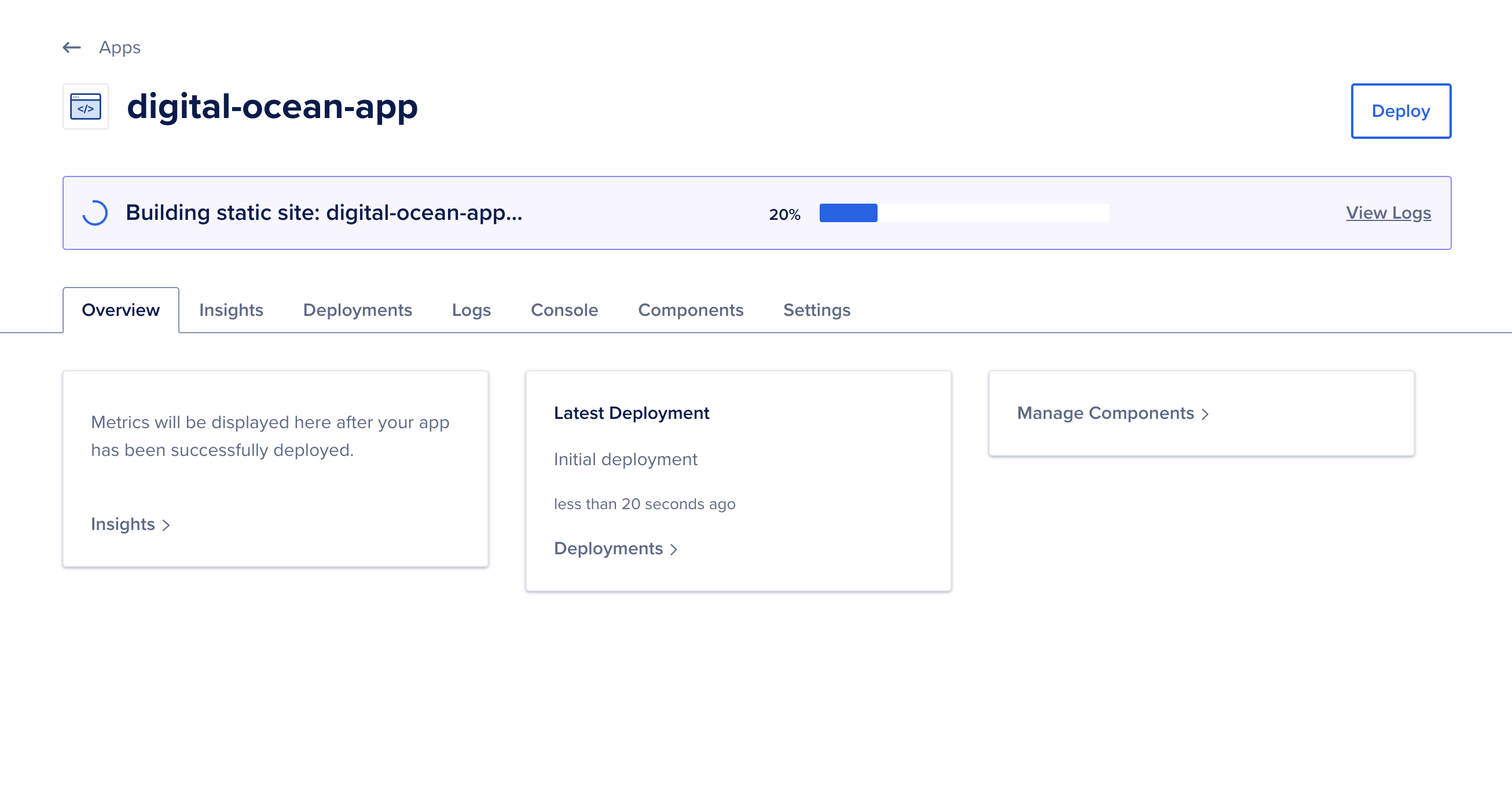DigitalOcean is building the application page