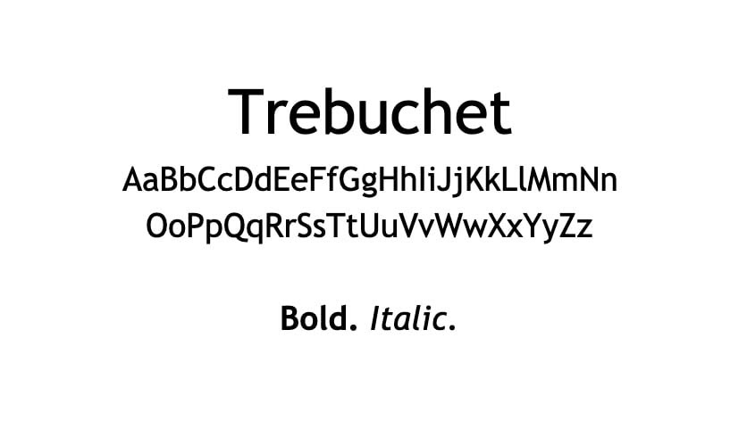 The Trebuchet font.