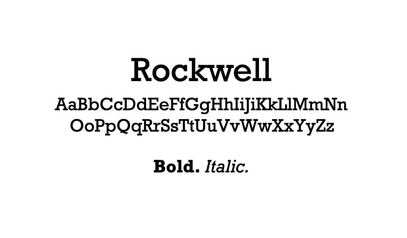 The Rockwell font.