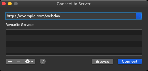 Image showing the URL entry dialog box