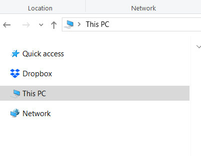 Image showing This PC in the navigation panel