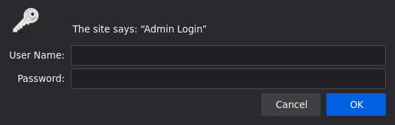 Nginx authentication popup