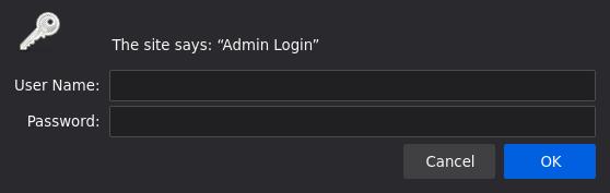 Nginx authentication popup