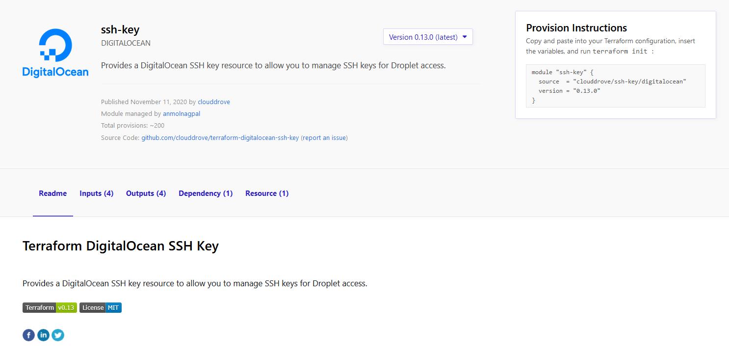 Terraform Registry - SSH key Module