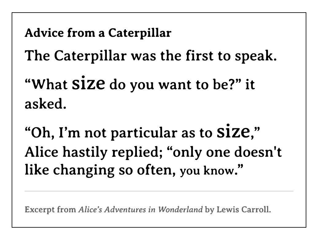 Quote text in a black serif typeface with a thin black border and smaller citation text below in a dark gray, with a thin dark gray border separating the quote from the citation.