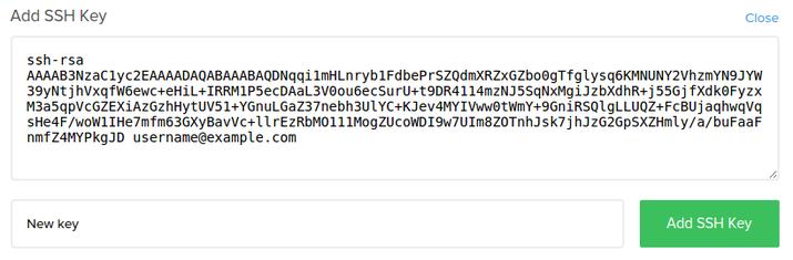 SSH neuer Schlüssel